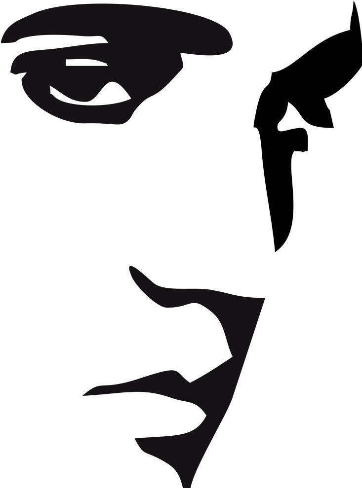Elvis Presley Face Removable Vinyl Decal Wall Sticker Various Colours ...