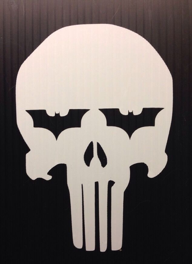 Punisher Batman Dark Knight Decal Sticker You Pick Color