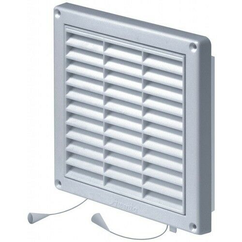 white air vent grille pull cord shutter 165mm x 165mm ventilation cover grid t43 ebay. Black Bedroom Furniture Sets. Home Design Ideas