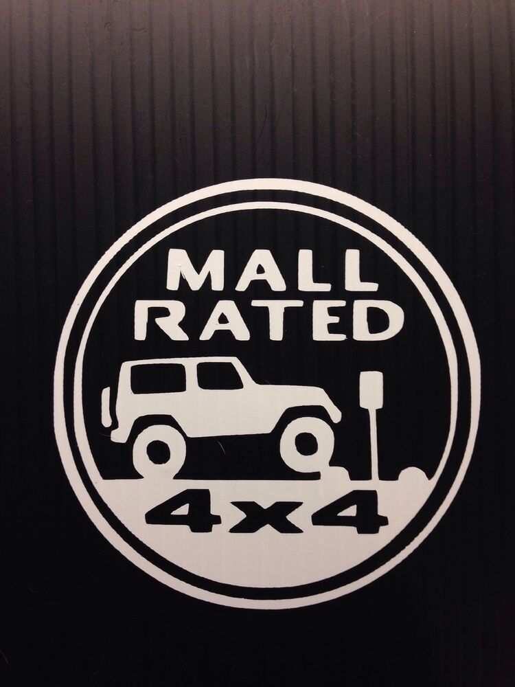 Mall Rated Jeep Trail Rated Badge Decal Sticker You Pick