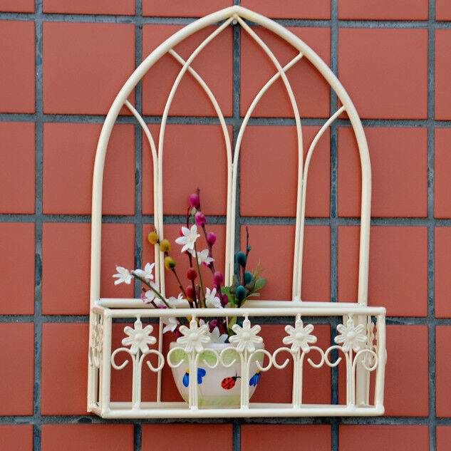 Wrought Iron Wall Basket Planters Pot Flower Holder