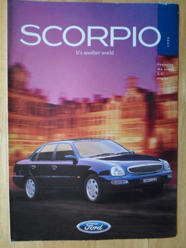ford scorpio 1996 orig uk market brochure with engine ebay. Black Bedroom Furniture Sets. Home Design Ideas
