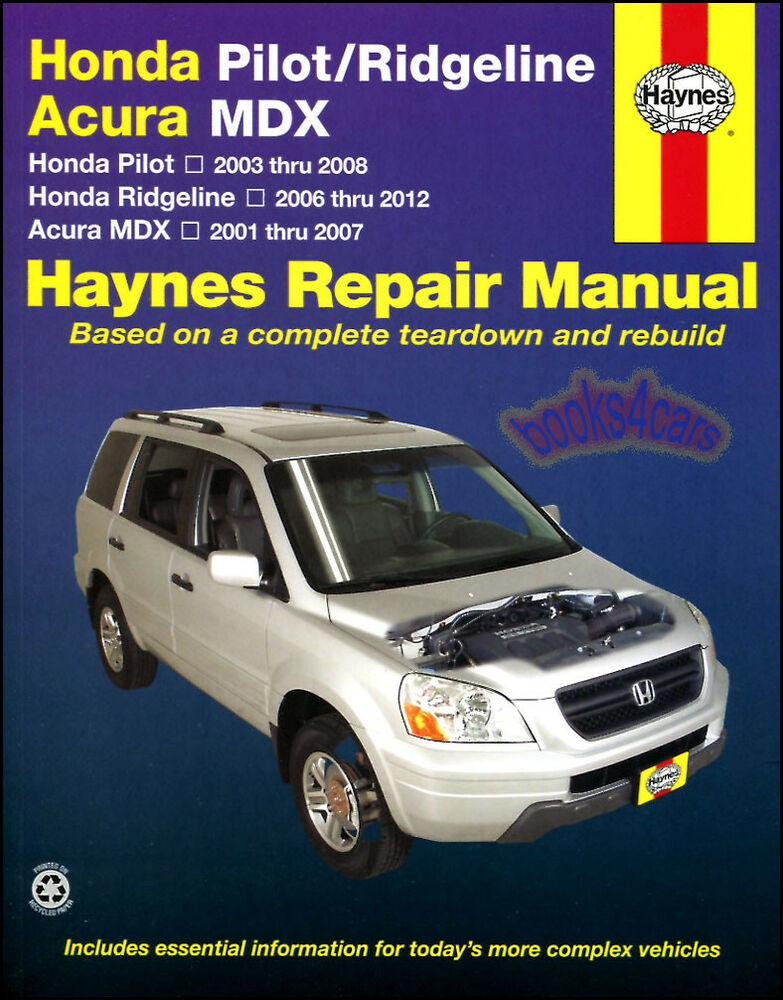 Shop manual service repair book haynes chilton honda pilot for Honda car repair