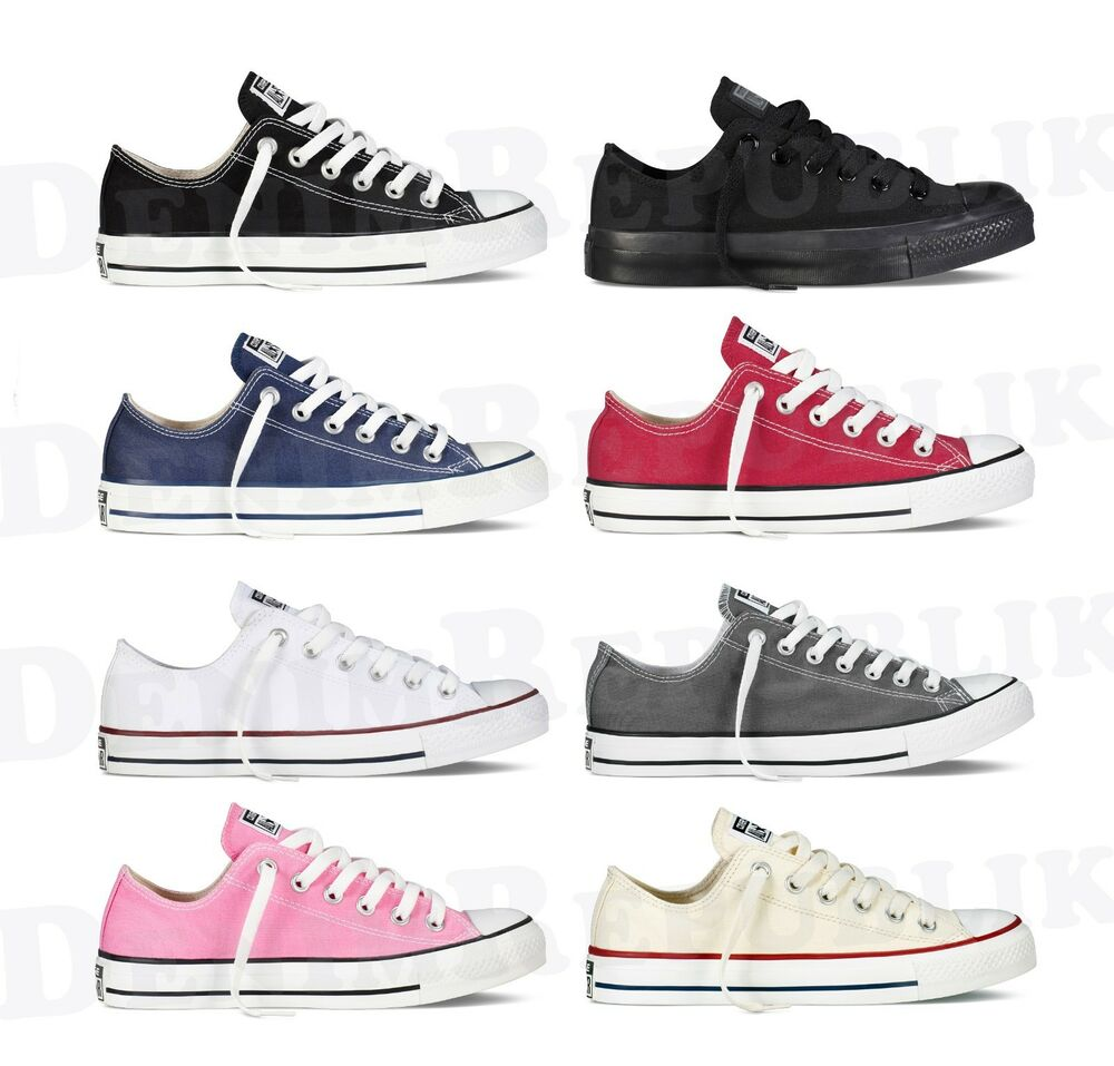 converse all star chuck taylor ox low top shoes unisex canvas sneakers ebay. Black Bedroom Furniture Sets. Home Design Ideas