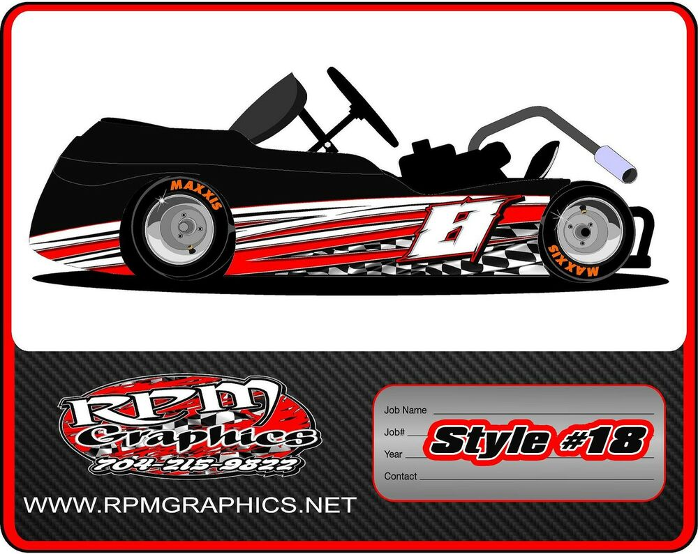 RACING GO KART WRAP WITH FRONT AND REAR NUMBERS graphics  : s l1000 from www.ebay.com size 1000 x 795 jpeg 128kB