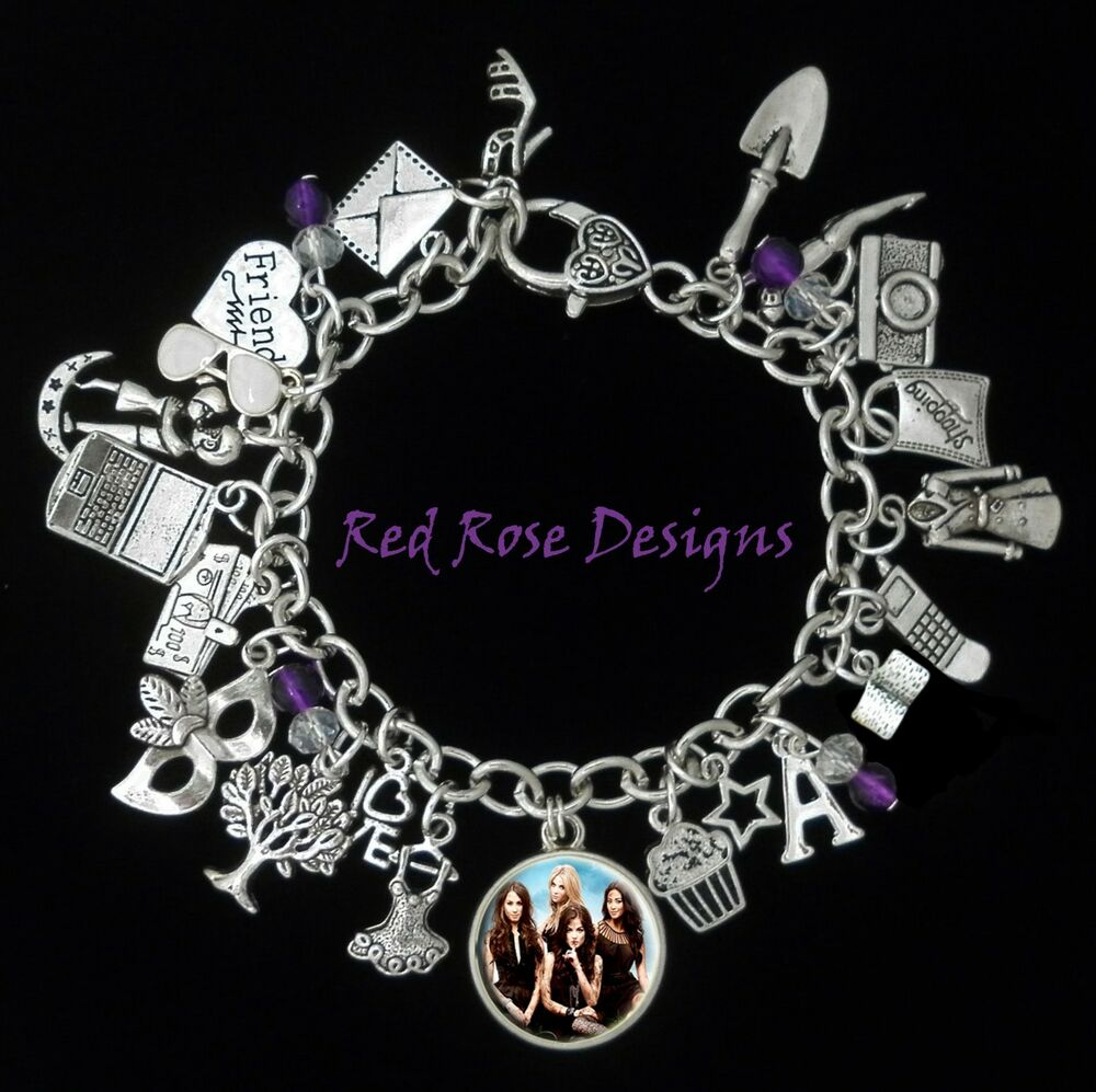 Bracelet With Charms: ~PRETTY LITTLE LIARS INSPIRED CHARM BRACELET~