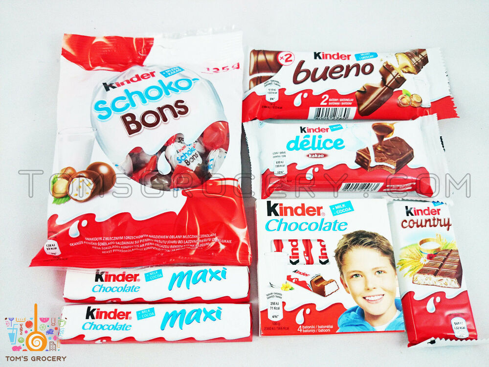 Ferrero KINDER Chocolate MIX OF THE YEAR Bueno Country ...