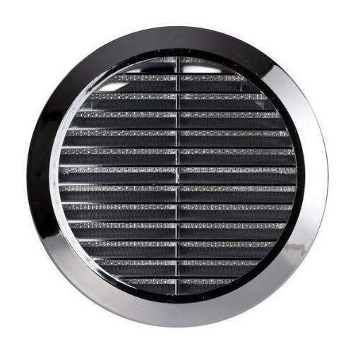Chrome Circle Air Vent Grille Adjustable Ducting 100mm 4