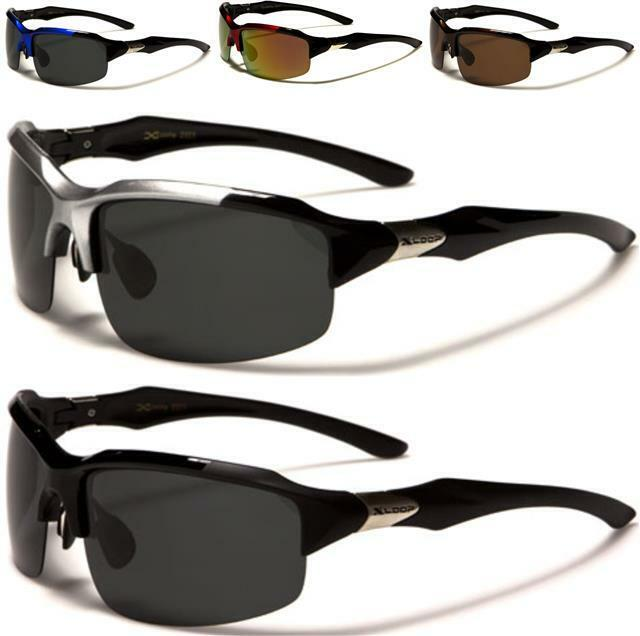 New mens ladies sunglasses black sport polarized large for Mens fishing sunglasses