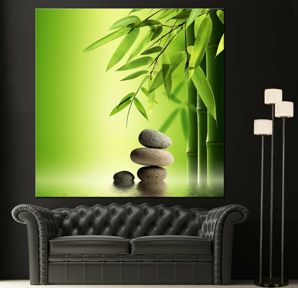 Wall art canvas giclee print spa zen colorful picture for Spa bathroom wall decor
