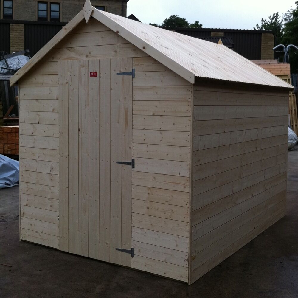 6x4 apex garden shed untreated with no floor fully t g ebay for Garden shed tab