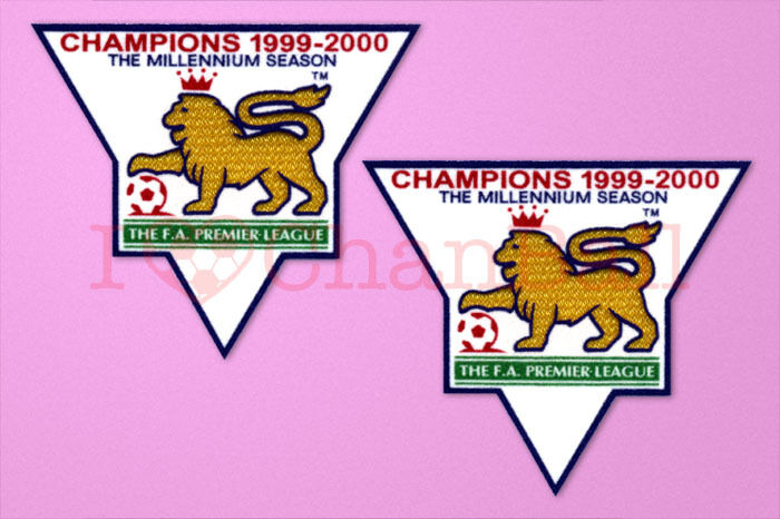 England premier league champion 99 00 sleeve gold patch for Epl table 99 00