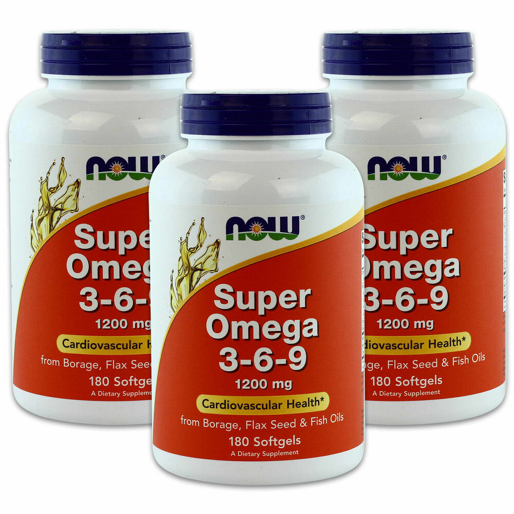 3 x now super omega 3 6 9 borage flax seed fish oil 180 for Flaxseed oil or fish oil