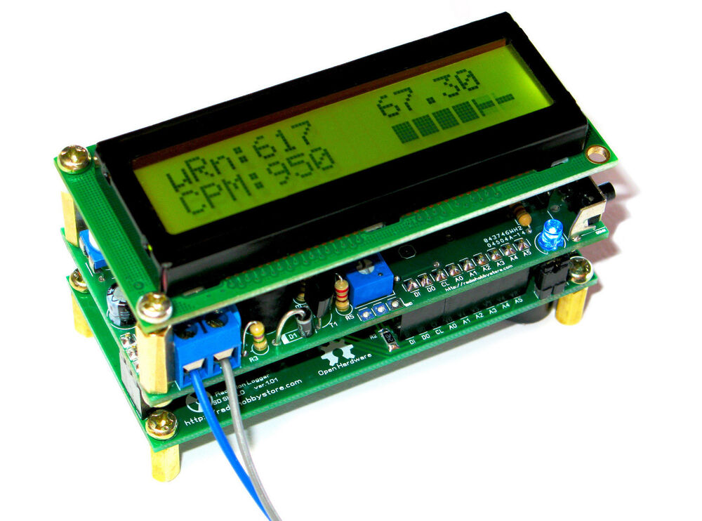 Arduino dosimeter logger diy geiger counter kit w lcd sd