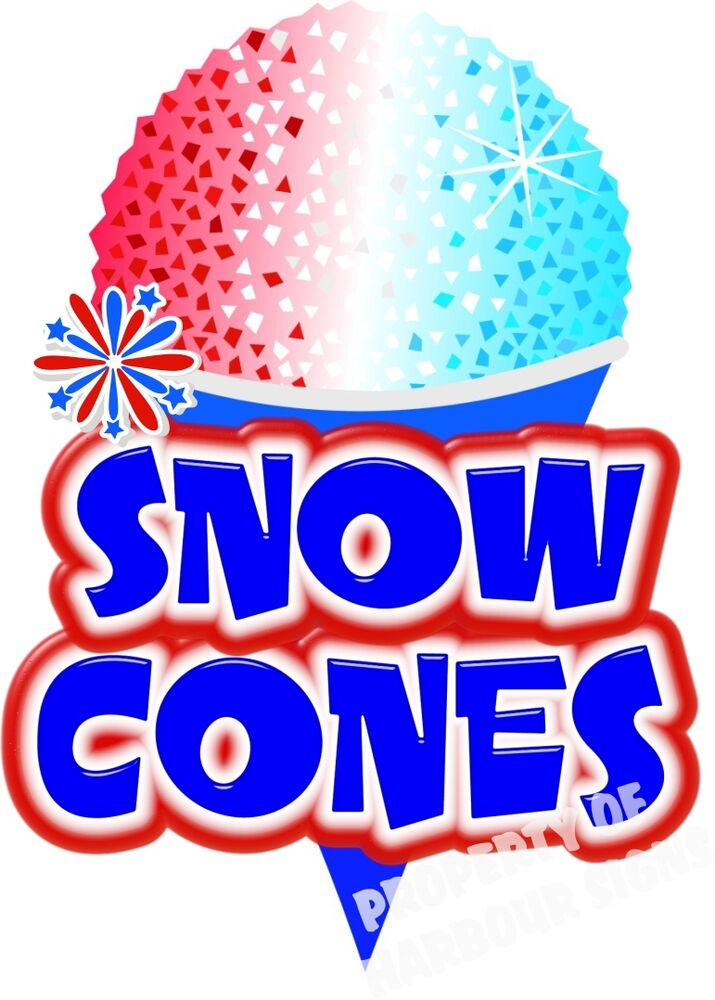 snow cones decal 24quot sno kones shaved ice concession cart