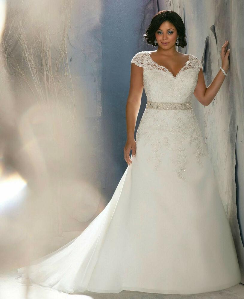 Wedding dress white ivory corset 3144 plus size 10 12 14 for What is my wedding dress size
