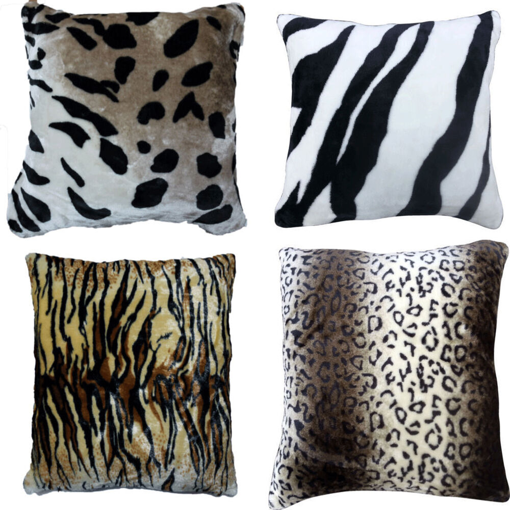 Animal Print Pillow Covers : CUSHION COVERS ELEGANT ANIMAL PRINT FAUX FUR SO SOFT CUDDLY COVERS eBay