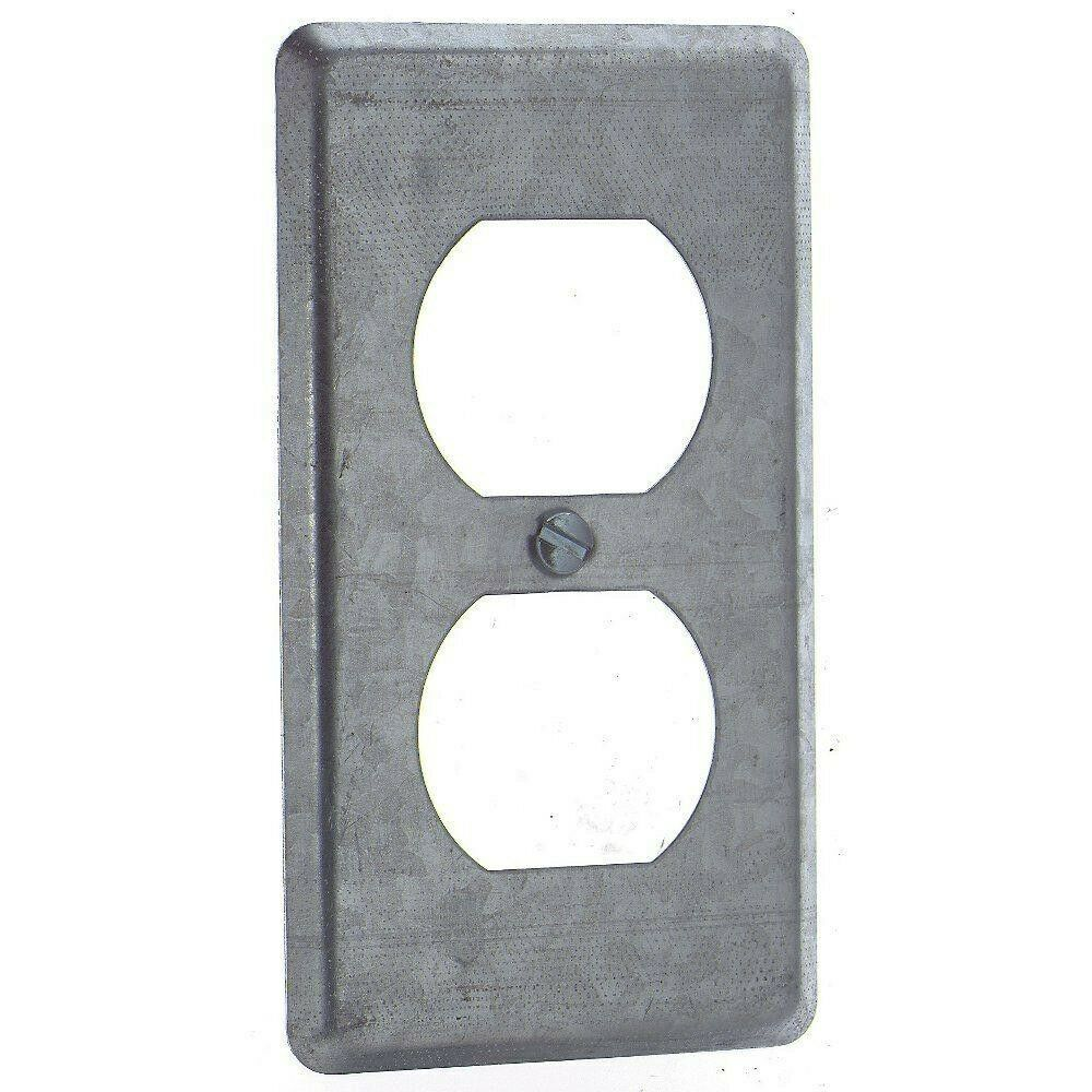 Metal Electrical Outlet Covers Oversized Outlet Covers: 1 Gang Metal Duplex Receptacle Cover For Handy Electrical