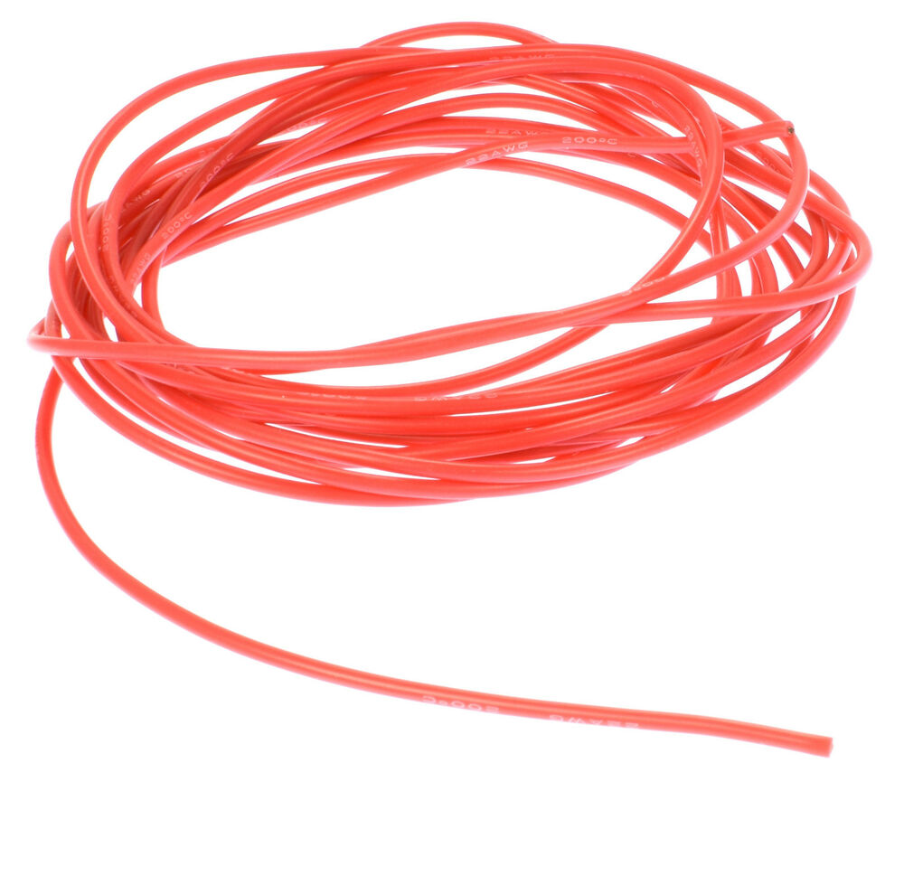 Apex Rc Products 3m 10 Red 22 Gauge Awg Super Flexible