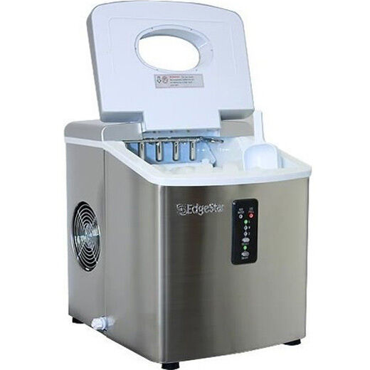 Stainless Steel Portable Ice Maker, Compact Countertop