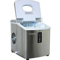 Stainless Steel Portable Ice Maker, Compact Countertop Machine, EdgeStar IP210SS