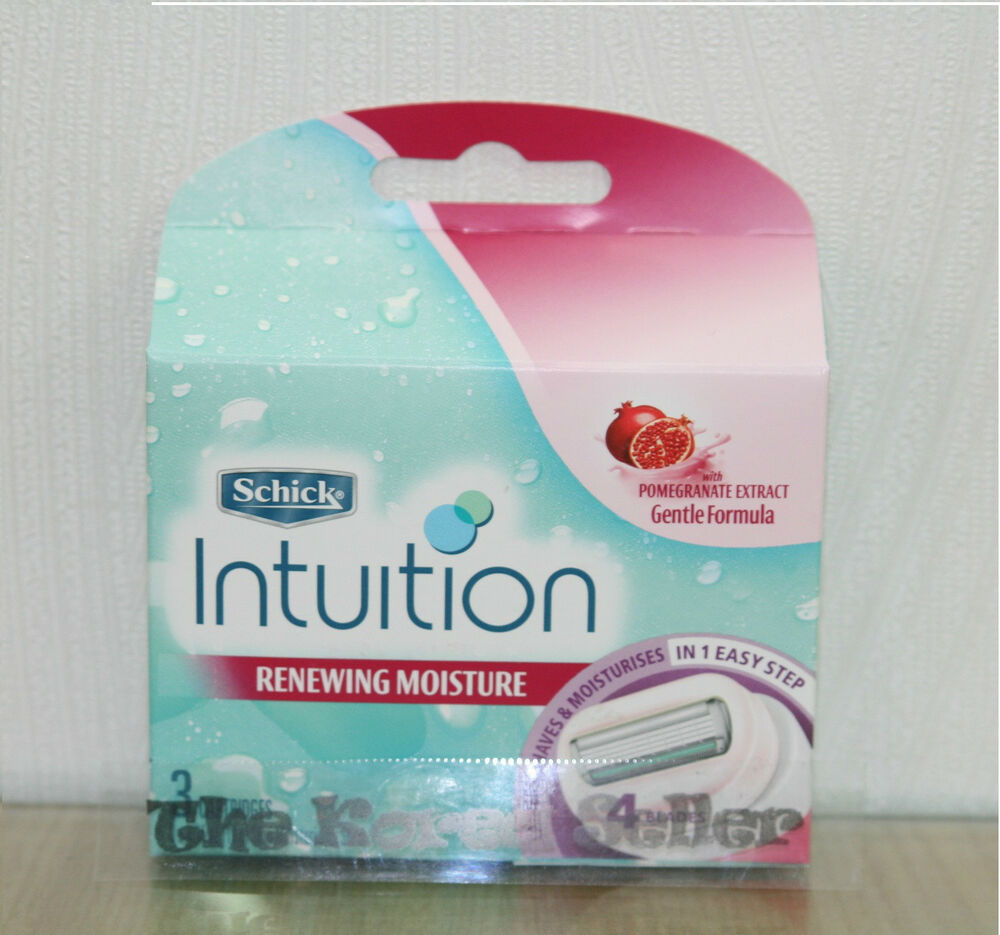 Schick Intuition Plus Renewing Moisture Women Razor Refill ...