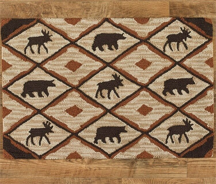 "Park Designs Rustic Retreat 24"" X 36"" Hooked Rug 493-35"