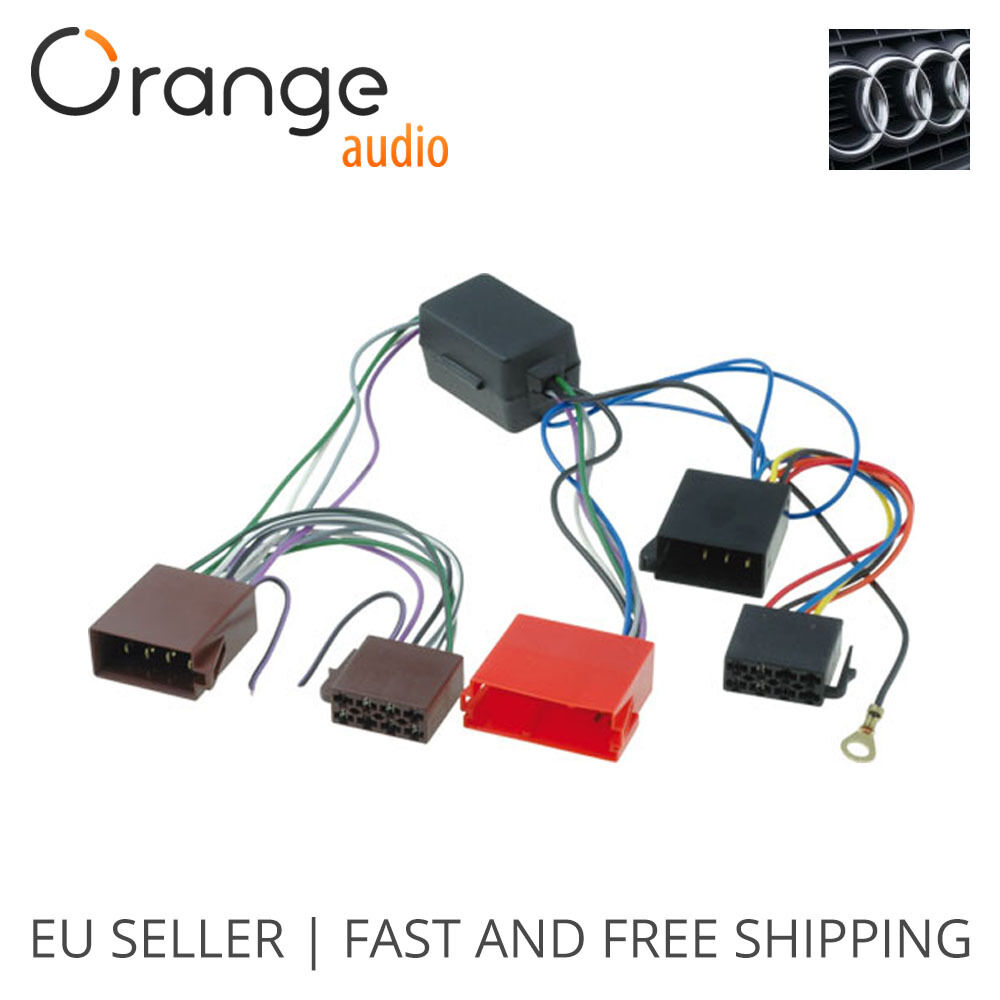 Audi A2  A3  A4  A6  A8  Tt Active Amplified Car Iso Wiring Harness Adaptor Loom 796551151437