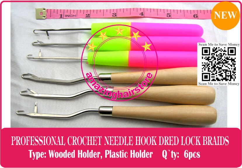 Crochet Hair Tool : Latch Crochet Hair Needle Hook Dreadlock Tools/Craft DreadLock Hair ...