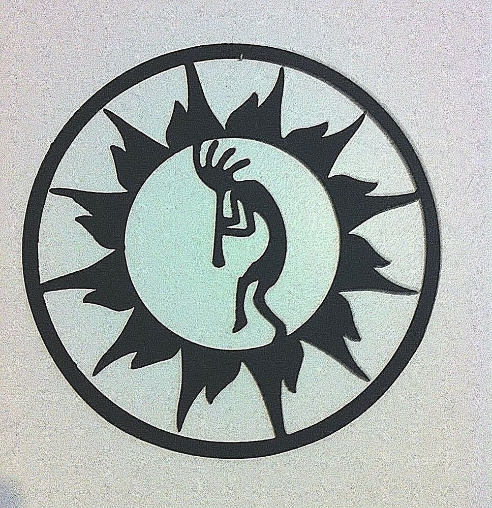 Kokopelli Metal Wall Art Kokopelli In Sun Circle Wall Art Southwest Hand Crafted Ebay