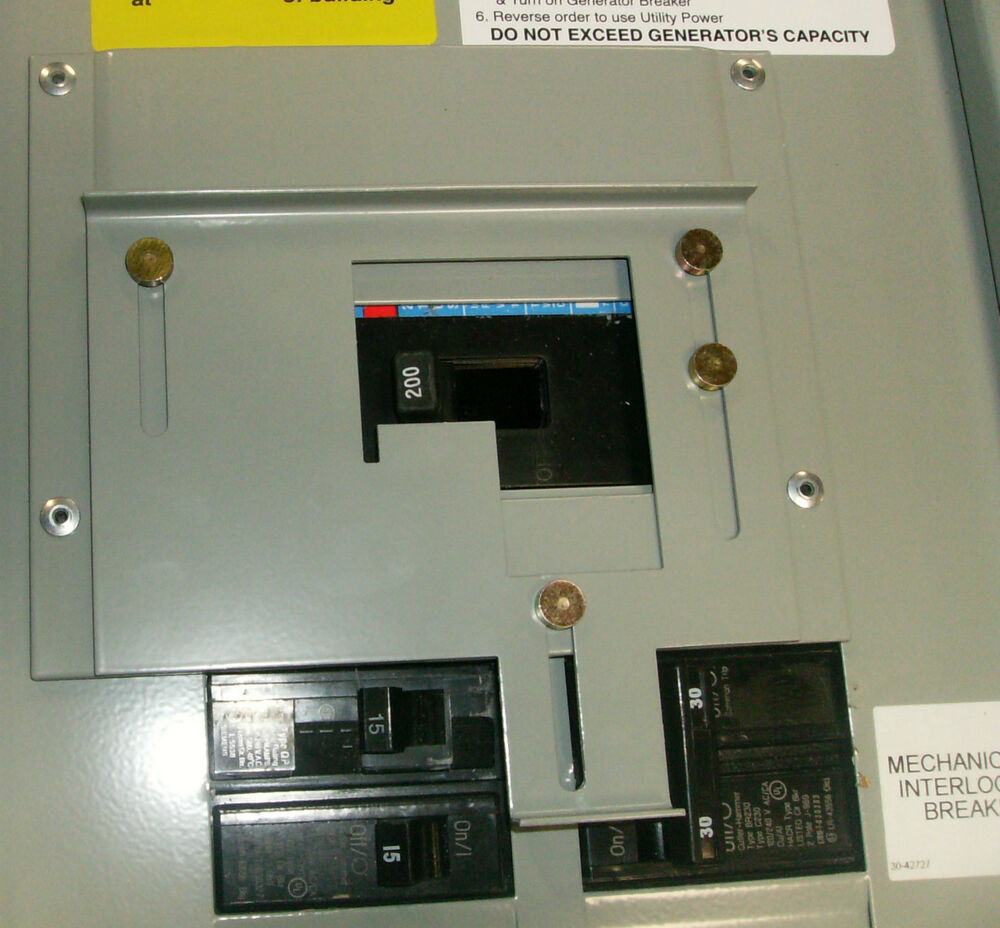 Murray 100 Amp Panel Wiring Diagram Not Lossing Sylvania Fuse Box Lock Out For Generator 40 Electrical Sub