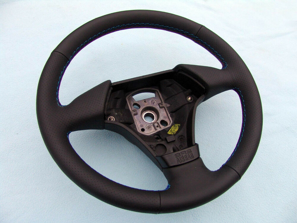 bmw e46 sports steering wheel new leather and 3 color. Black Bedroom Furniture Sets. Home Design Ideas
