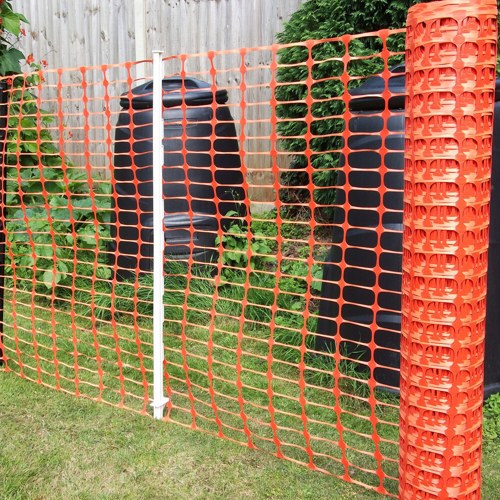 Orange Plastic Barrier Mesh Fencing Dog Pet Chicken Event