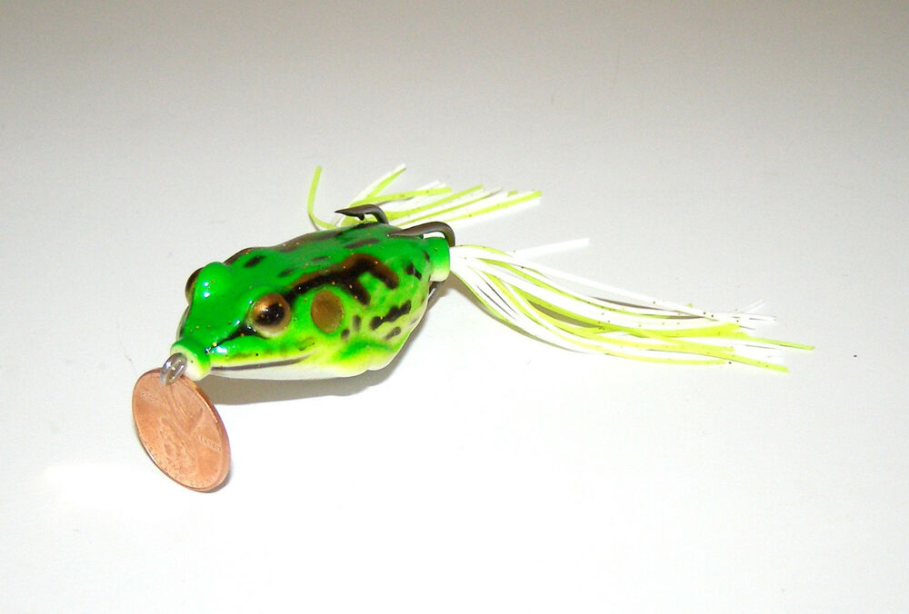 1 new soft topwater hollow life like frog fishing lure for Frog fishing lures