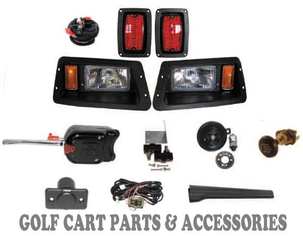 Golf Cart Headlights : Yamaha g golf cart headlight tail light kit deluxe