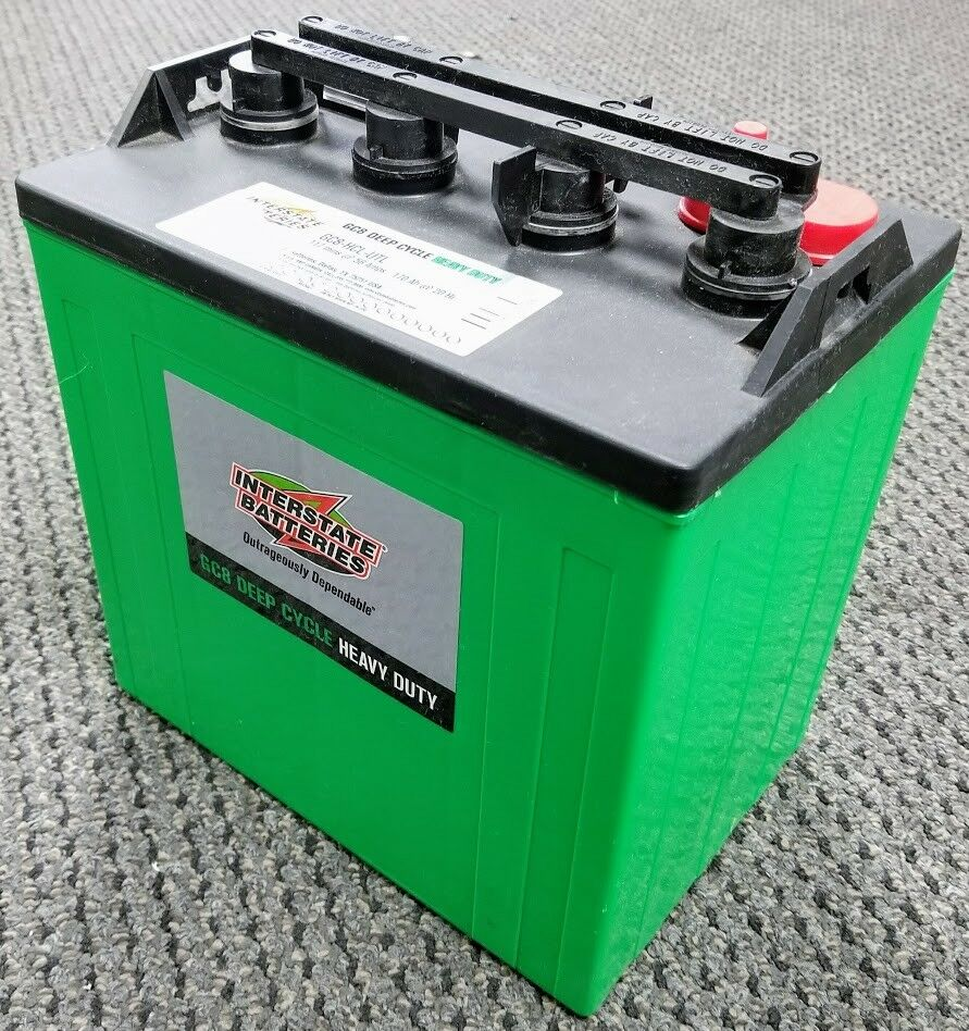 new interstate 8v 8 volt golf cart battery battery deep. Black Bedroom Furniture Sets. Home Design Ideas