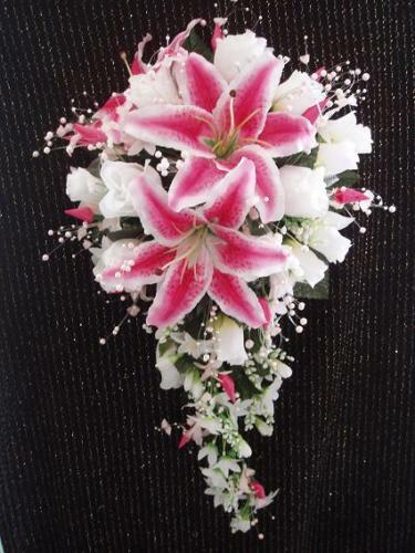 wedding bouquets with stargazer lilies and roses wedding 2 pc bridal bouquet stargazer white ivory 8544