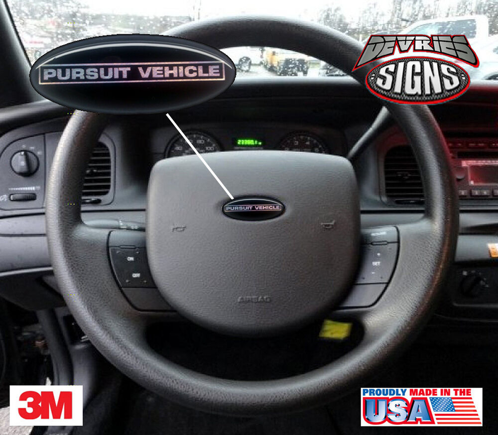 (2) DOMED Ford Crown Victoria PURSUIT VEHICLE P71 steering ...