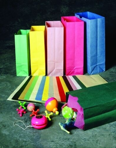 12 pc. Colored Paper Bags- You Choose The Color. Birthday ...