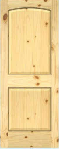 2 panel arch top knotty pine stain grade solid core interior wood doors 6 39 8 ht ebay for 2 panel arch top interior doors