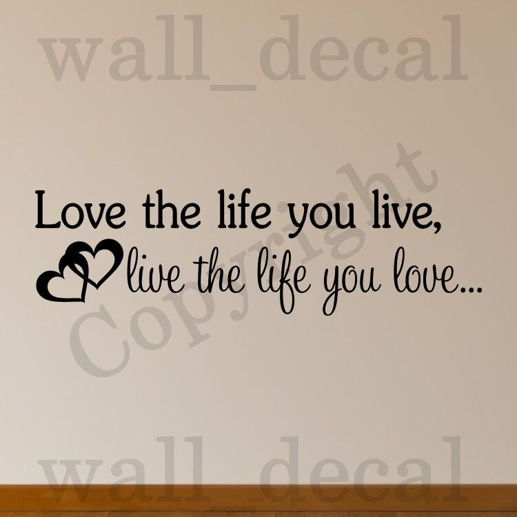 Love the life you live bob marley wall decal vinyl sticker for Inspiratinal bob marley wall decals