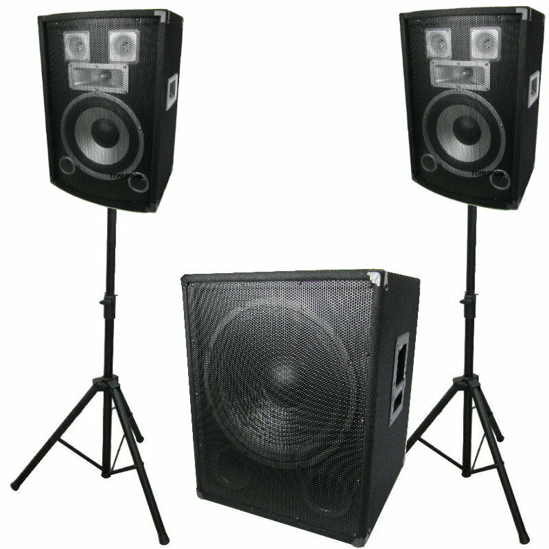 1600 watt 2 1 pa party dj musiker anlage box lautsprecher. Black Bedroom Furniture Sets. Home Design Ideas