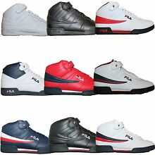 261ed6ce Mens Fila F13 F-13 Classic Mid High Top Basketball Shoes Sneakers White  Black