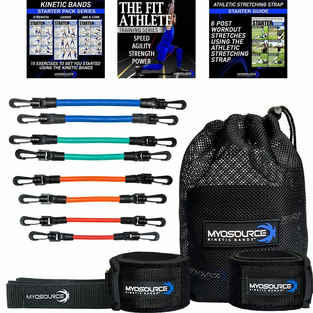 Speed Training Leg Resistance Bands plus DVD & Stretching ...