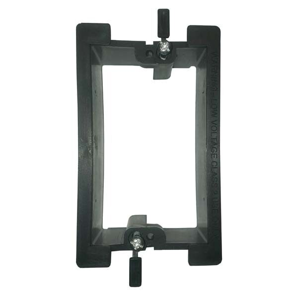 Low Voltage Wall Mounting : Eagle wall plate mounting bracket single gang pvc low