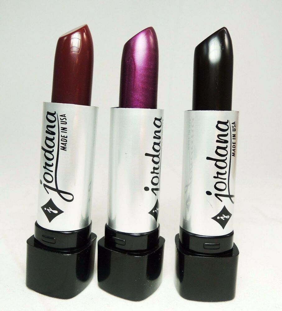 3 PCs Jordana Lipsticks - Black, Dark Purple, Burnt Sugar ...