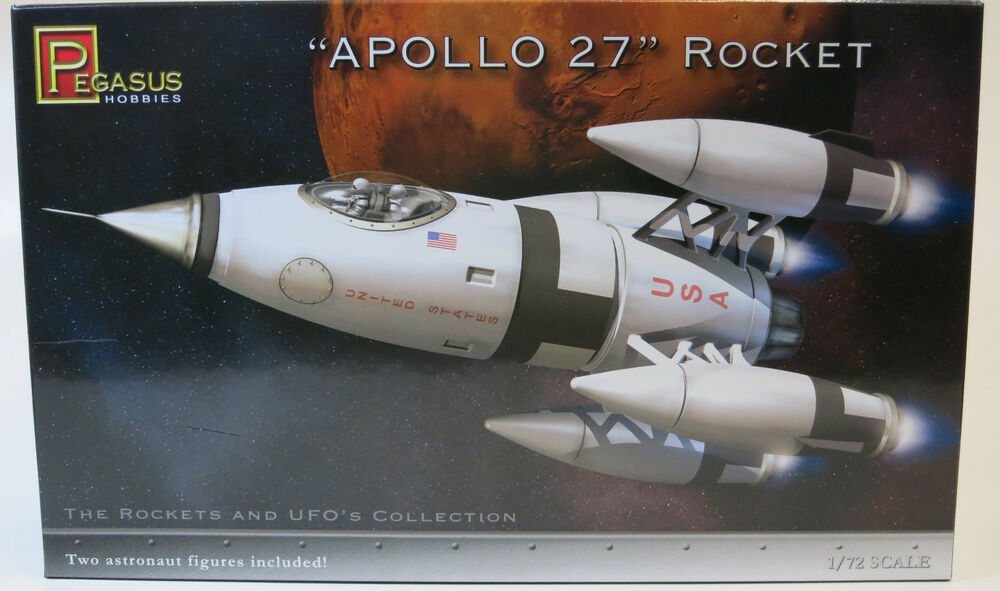 Pegasus 1 72 Apollo 27 Rocket Plastic Model Kit 9101 Ebay