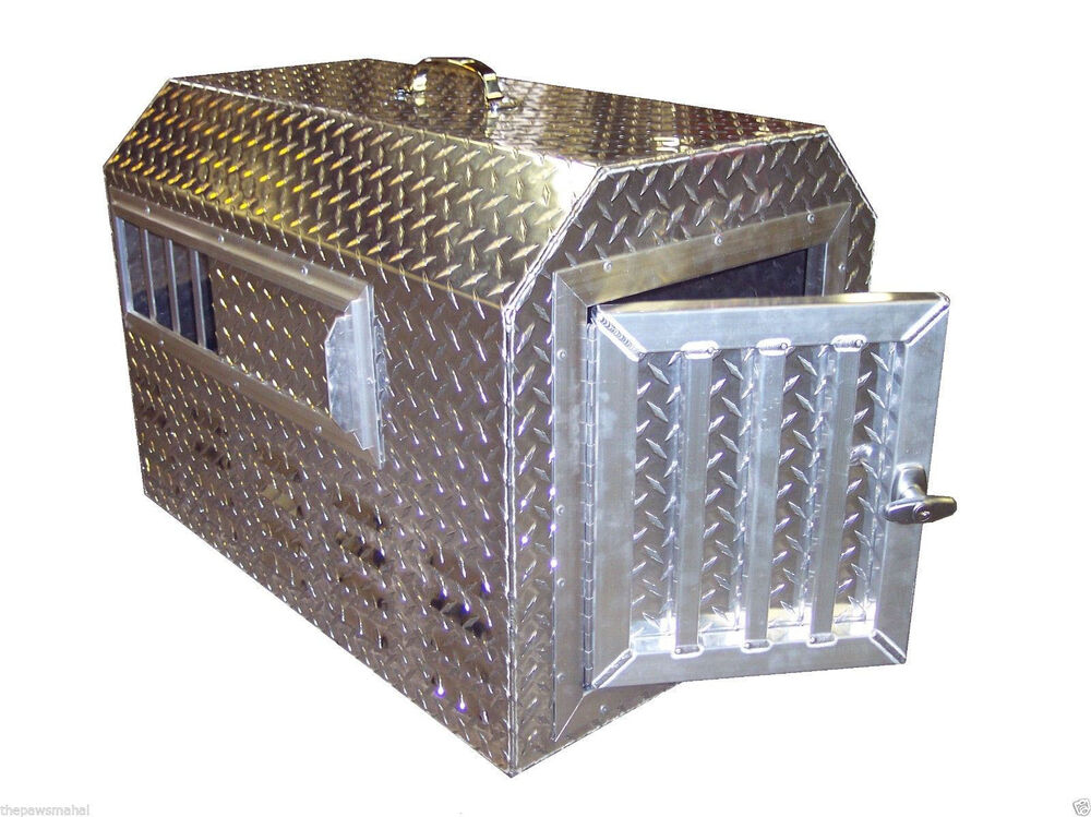 Diamond Plate .057 Aluminum Pet Pal Insulated Dog Box Kennel Tote  sc 1 st  eBay & Aluminum Dog Box | eBay Aboutintivar.Com