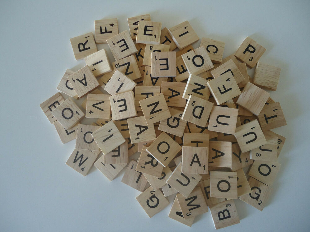 50 scrabble wooden letters tiles crafts weddings vintage for Wooden letters for crafts