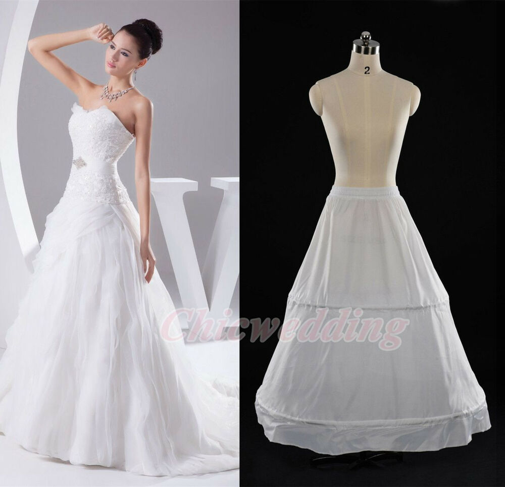 White a line bridal petticoat wedding crinoline underskirt for Sell your wedding dress online for free